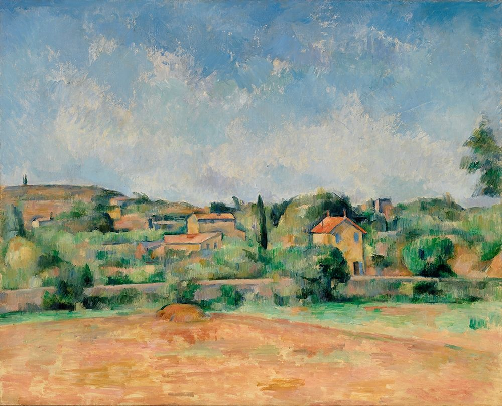 konfigurieren des Kunstdrucks in Wunschgröße The Bellevue Plain, also called The Red Earth von Cezanne, Paul