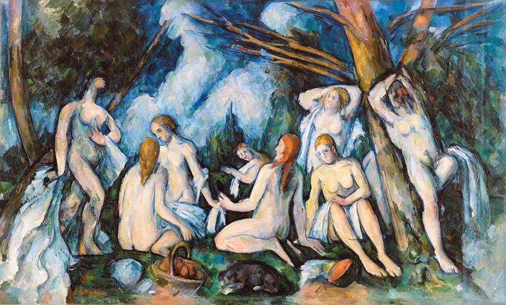 konfigurieren des Kunstdrucks in Wunschgröße The Large Bathers von Cezanne, Paul