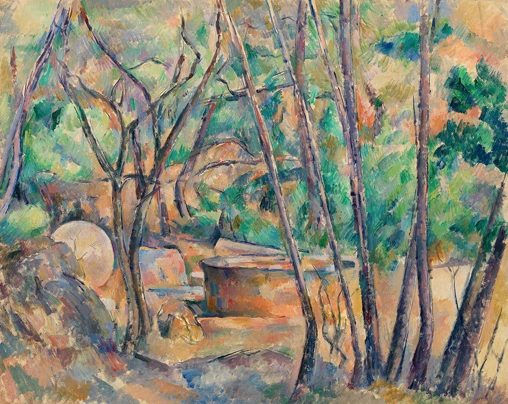 konfigurieren des Kunstdrucks in Wunschgröße Millstone and Cistern under Trees┬á von Cezanne, Paul
