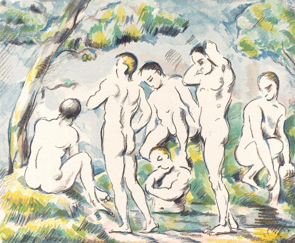 konfigurieren des Kunstdrucks in Wunschgröße The Bathers (Small Plate) von Cezanne, Paul
