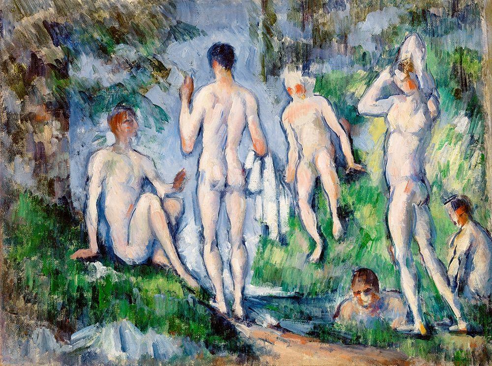 konfigurieren des Kunstdrucks in Wunschgröße Group of Bathers von Cezanne, Paul