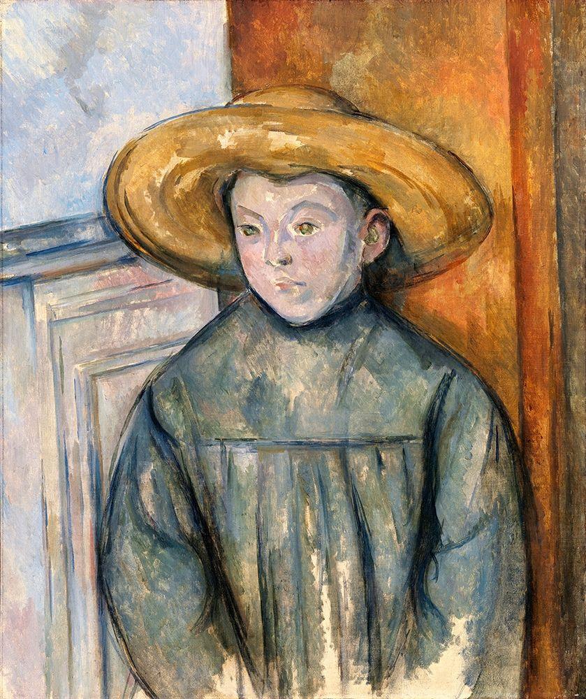 konfigurieren des Kunstdrucks in Wunschgröße Boy With a Straw Hat von Cezanne, Paul