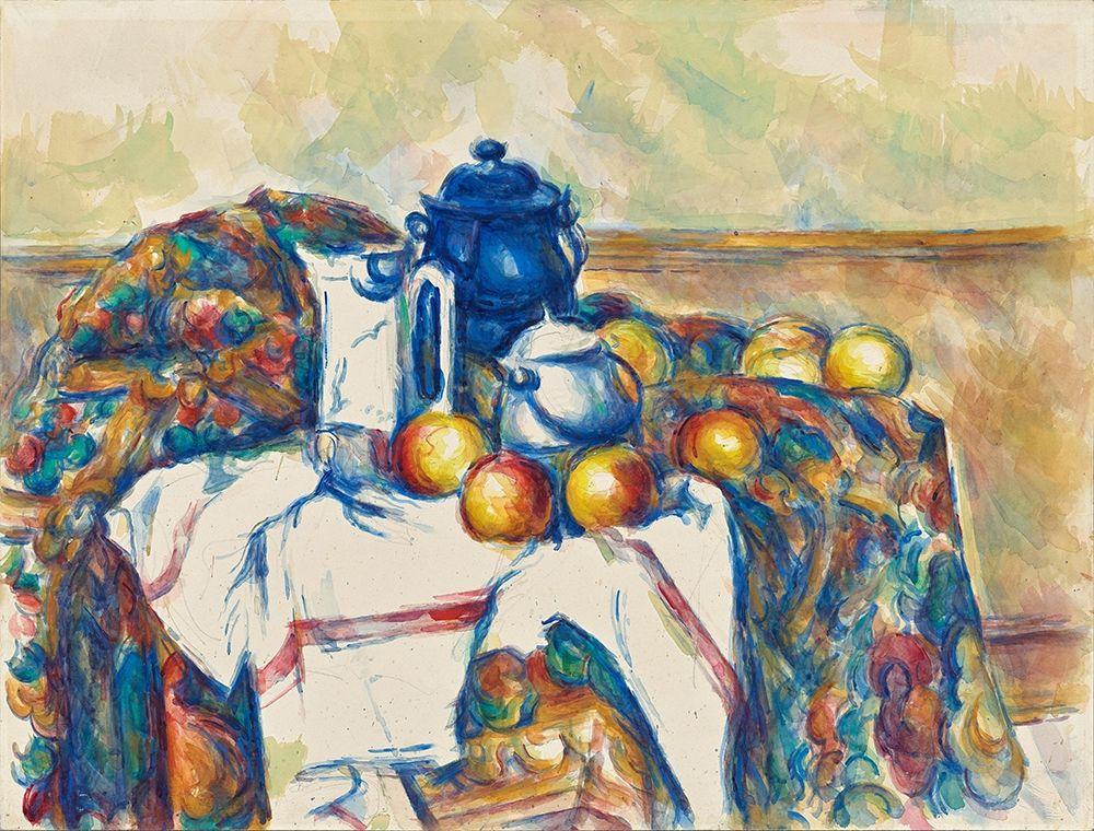 konfigurieren des Kunstdrucks in Wunschgröße Still Life with Blue Pot von Cezanne, Paul