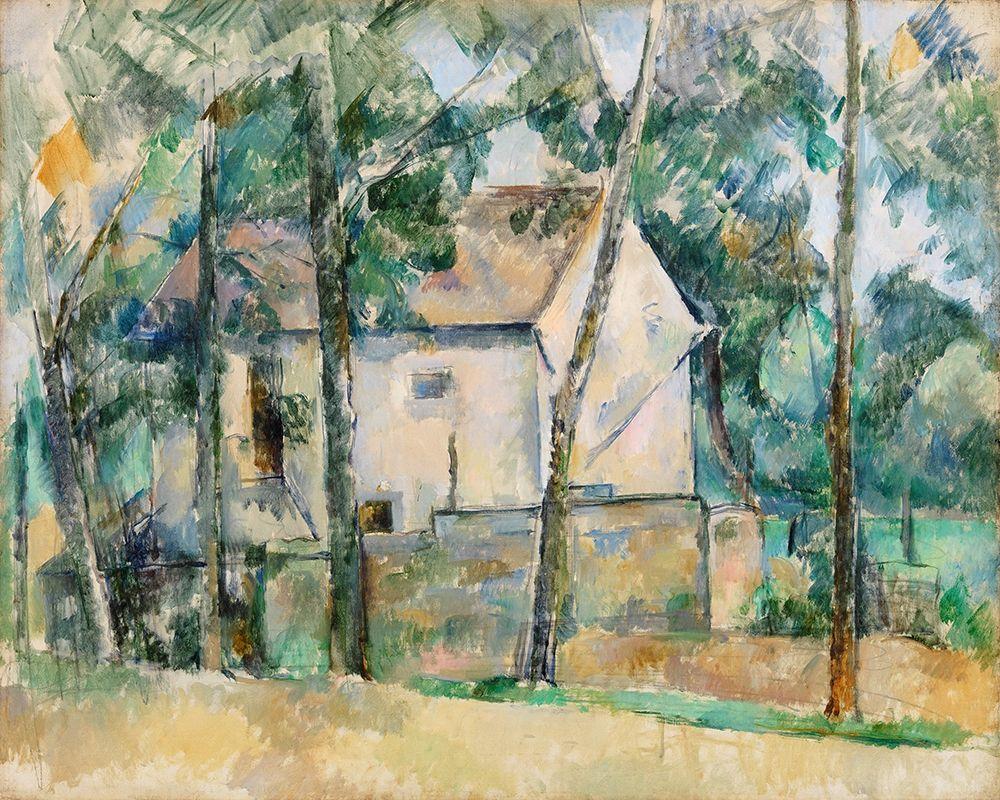 konfigurieren des Kunstdrucks in Wunschgröße House and Trees von Cezanne, Paul