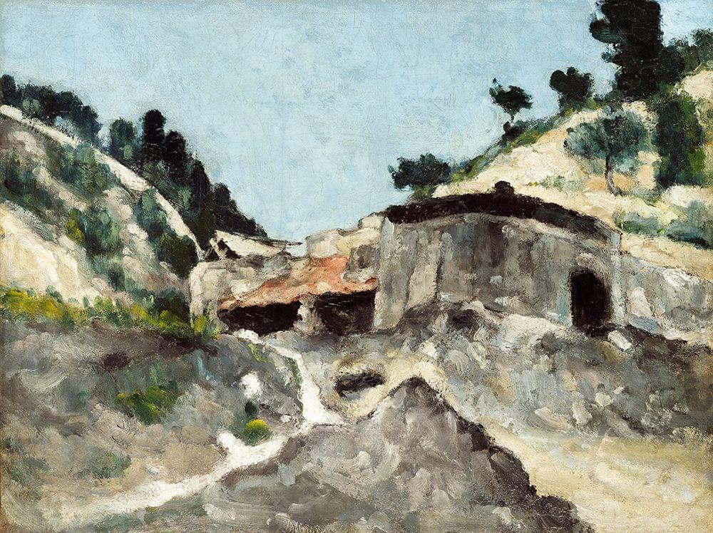 konfigurieren des Kunstdrucks in Wunschgröße Landscape with Water Mill von Cezanne, Paul