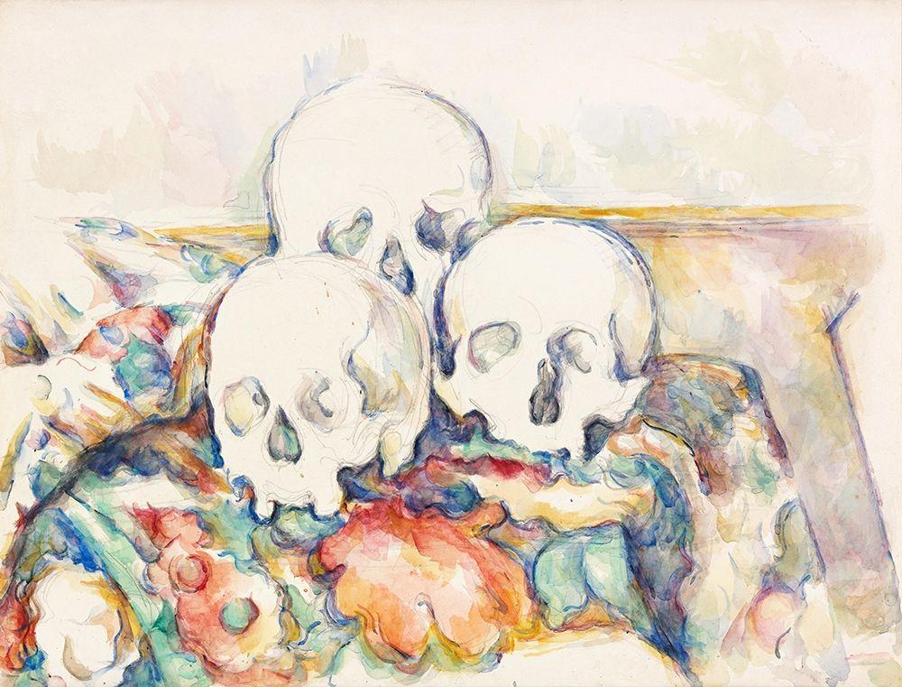 konfigurieren des Kunstdrucks in Wunschgröße The Three Skulls┬á von Cezanne, Paul