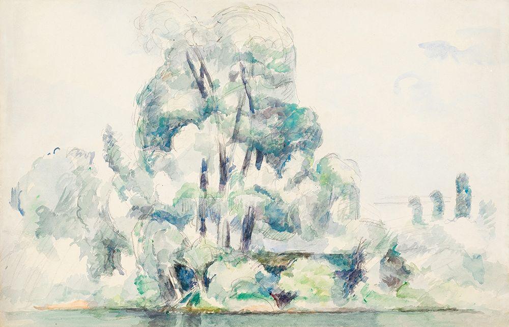 konfigurieren des Kunstdrucks in Wunschgröße Banks of the Seine at M├®dan von Cezanne, Paul