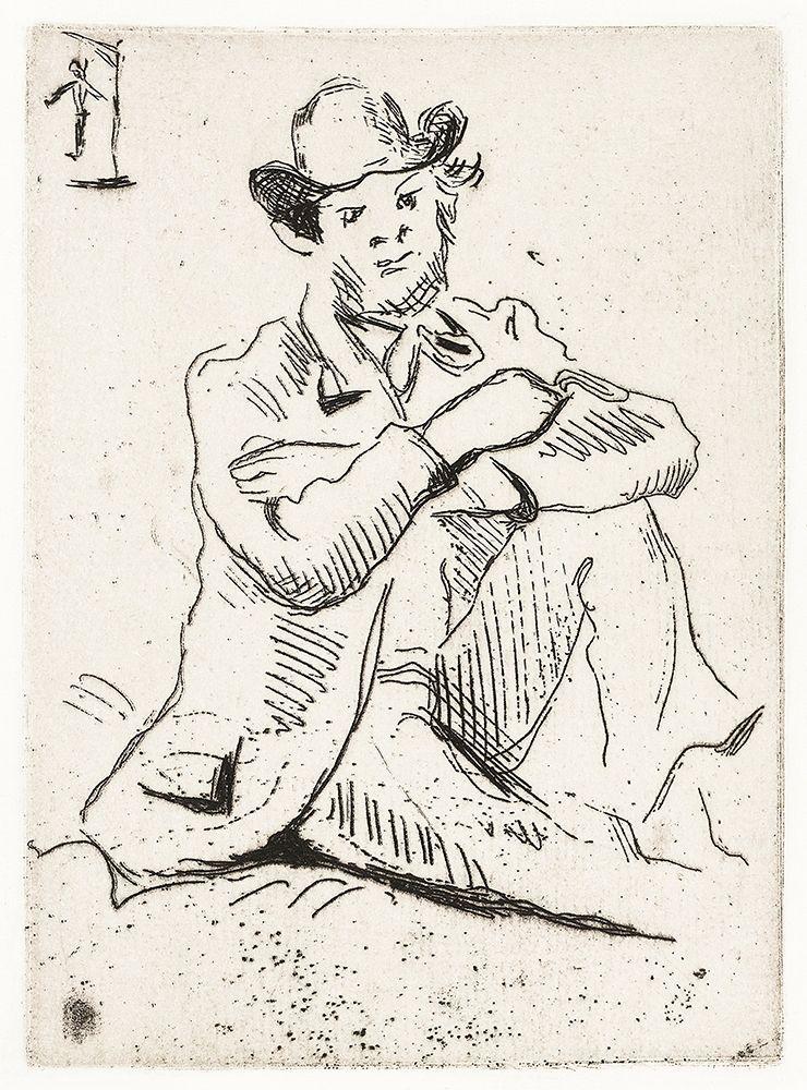 konfigurieren des Kunstdrucks in Wunschgröße Guillaumin with the Hanged Man┬á von Cezanne, Paul