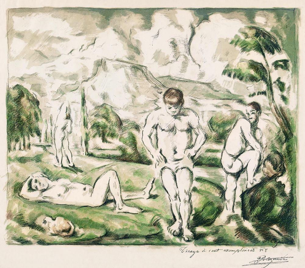 konfigurieren des Kunstdrucks in Wunschgröße The Bathers [Large version] von Cezanne, Paul