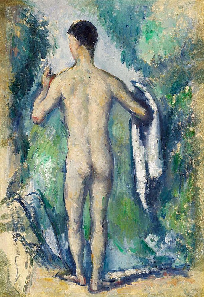 konfigurieren des Kunstdrucks in Wunschgröße Standing Bather, Seen from the Back von Cezanne, Paul