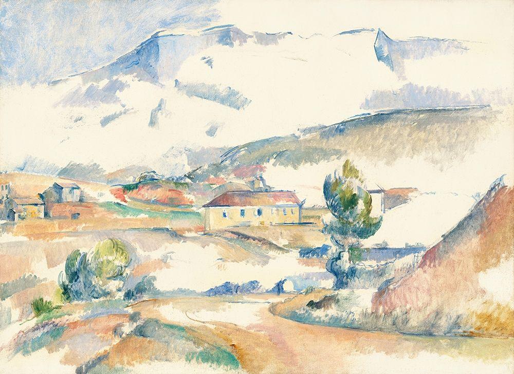 konfigurieren des Kunstdrucks in Wunschgröße Montagne Sainte-Victoire, from near Gardanne von Cezanne, Paul