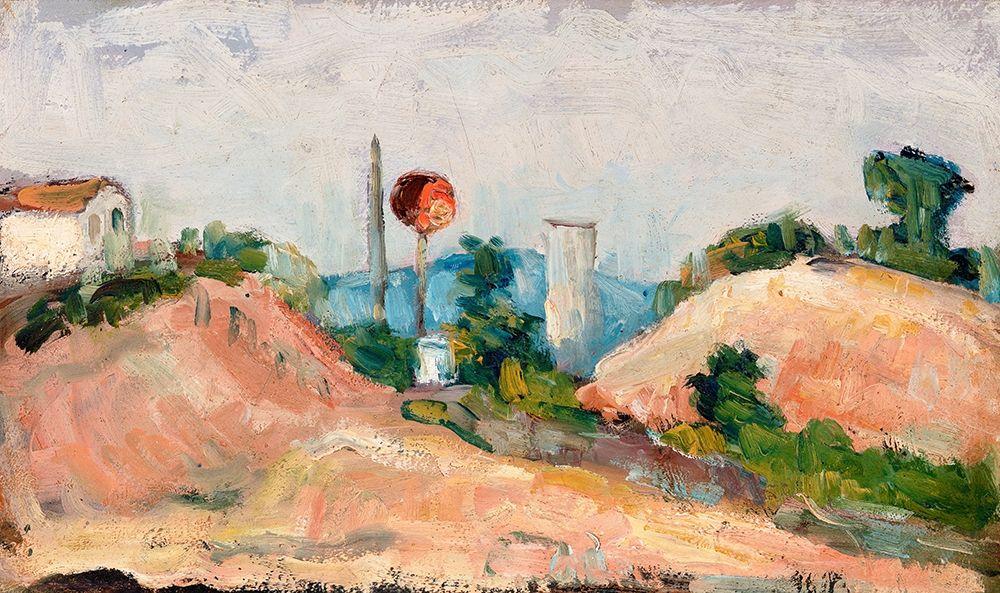 konfigurieren des Kunstdrucks in Wunschgröße Railroad Cut von Cezanne, Paul