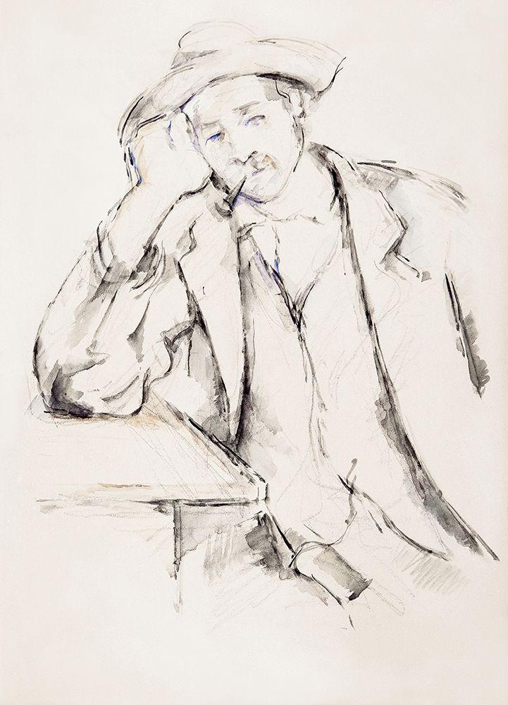 konfigurieren des Kunstdrucks in Wunschgröße Leaning Smoker von Cezanne, Paul