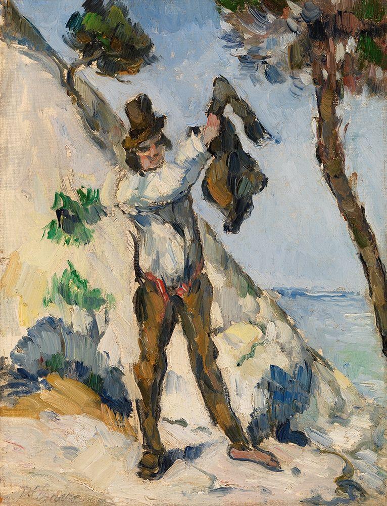 konfigurieren des Kunstdrucks in Wunschgröße Man with a Vest von Cezanne, Paul