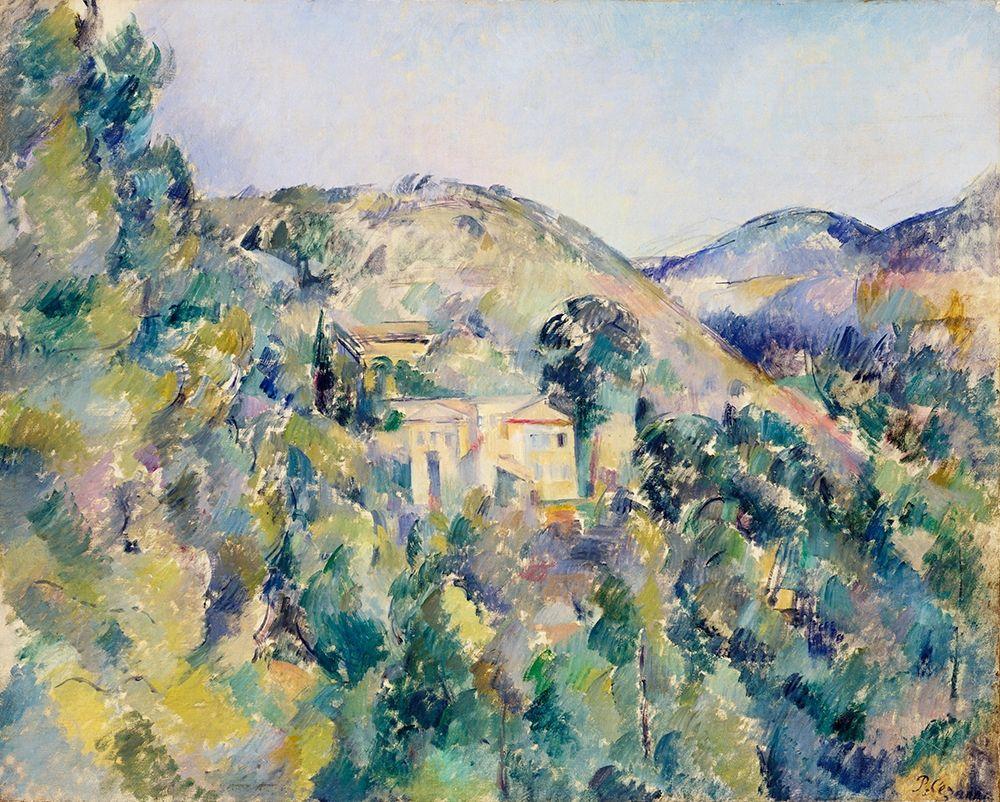 konfigurieren des Kunstdrucks in Wunschgröße View of the Domaine Saint-Joseph┬á von Cezanne, Paul