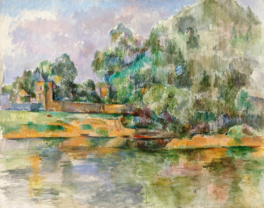 konfigurieren des Kunstdrucks in Wunschgröße Riverbank von Cezanne, Paul