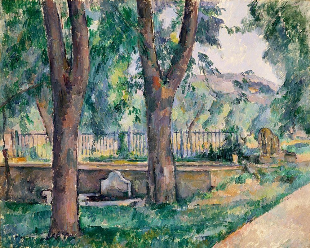 konfigurieren des Kunstdrucks in Wunschgröße The Pool at Jas de Bouffan von Cezanne, Paul