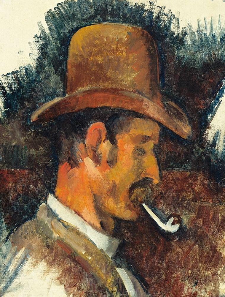 konfigurieren des Kunstdrucks in Wunschgröße Man with Pipe von Cezanne, Paul