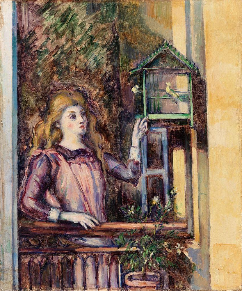 konfigurieren des Kunstdrucks in Wunschgröße Girl with Birdcage von Cezanne, Paul