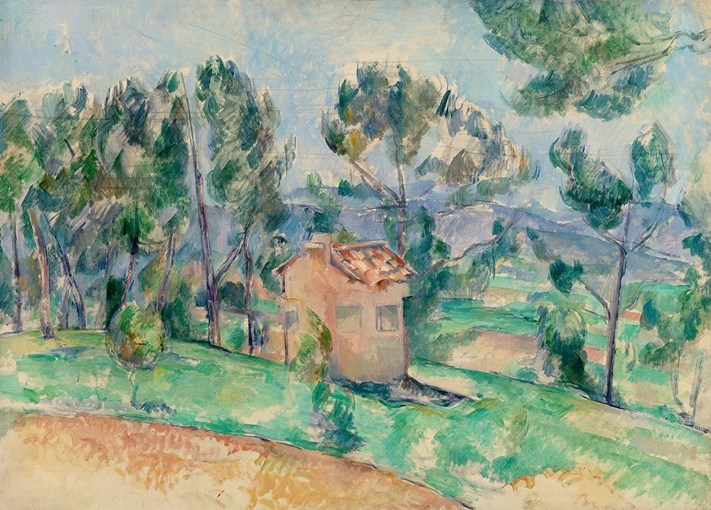 konfigurieren des Kunstdrucks in Wunschgröße Hunting Cabin in Provence von Cezanne, Paul