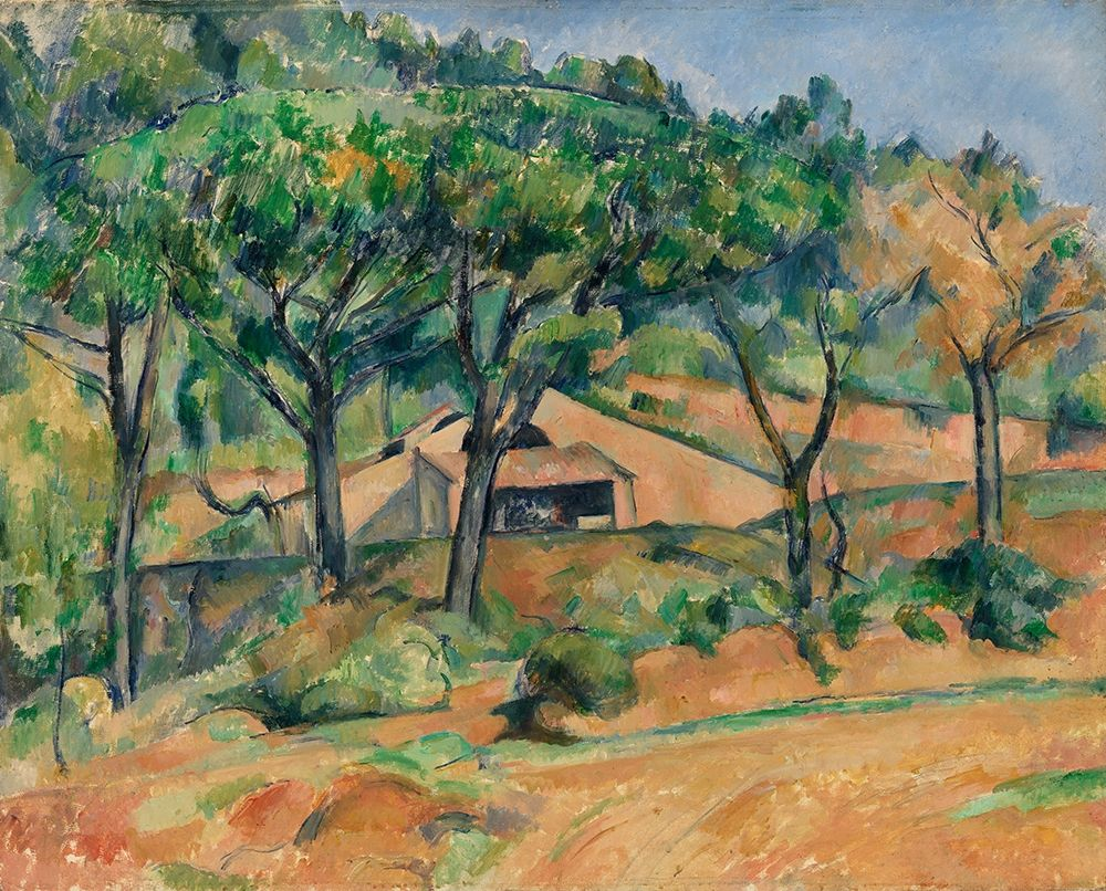 konfigurieren des Kunstdrucks in Wunschgröße House in Provence von Cezanne, Paul