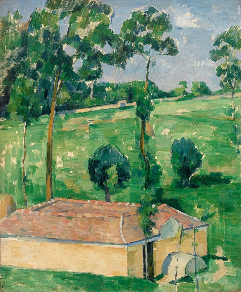 konfigurieren des Kunstdrucks in Wunschgröße The Spring House von Cezanne, Paul