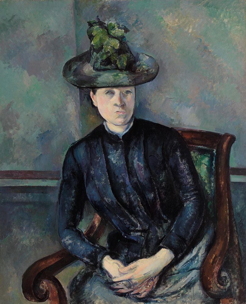 konfigurieren des Kunstdrucks in Wunschgröße Madame C├®zanne with Green Hat┬á von Cezanne, Paul
