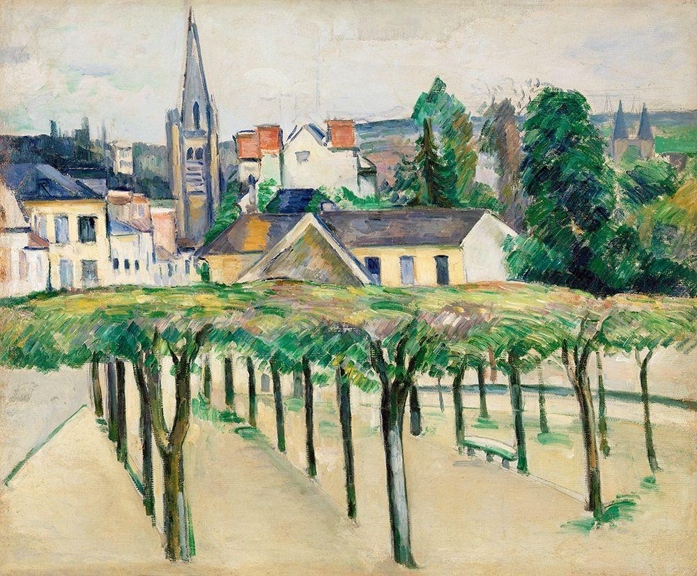 konfigurieren des Kunstdrucks in Wunschgröße Village Square von Cezanne, Paul