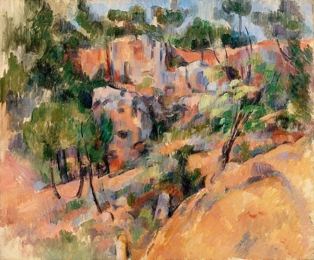 konfigurieren des Kunstdrucks in Wunschgröße Bib├®mus Quarry von Cezanne, Paul