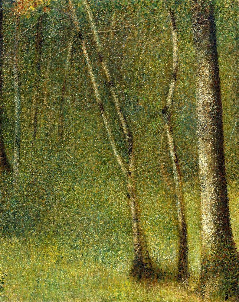 konfigurieren des Kunstdrucks in Wunschgröße The Forest at Pontaubert┬á von Seurat, Georges