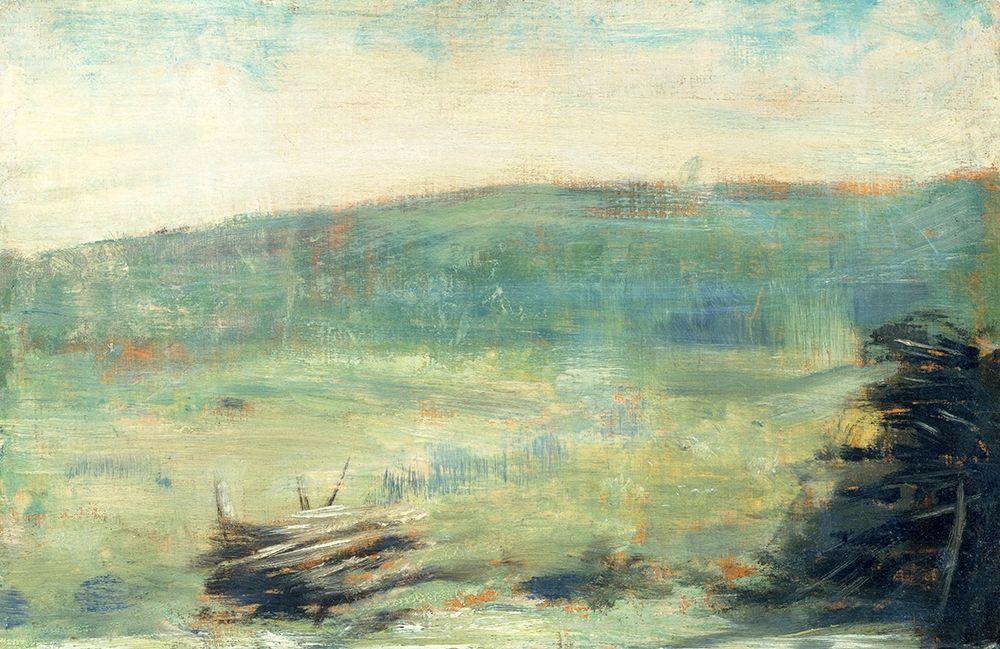 konfigurieren des Kunstdrucks in Wunschgröße Landscape at Saint-Ouen┬á von Seurat, Georges