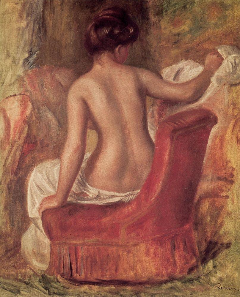 konfigurieren des Kunstdrucks in Wunschgröße Nude in a Chair von Renoir, Pierre-Auguste