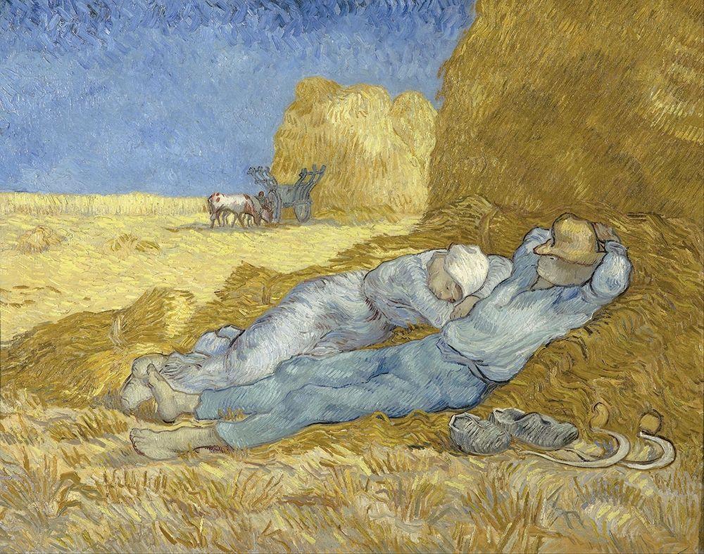 konfigurieren des Kunstdrucks in Wunschgröße The Siesta von Van Gogh, Vincent