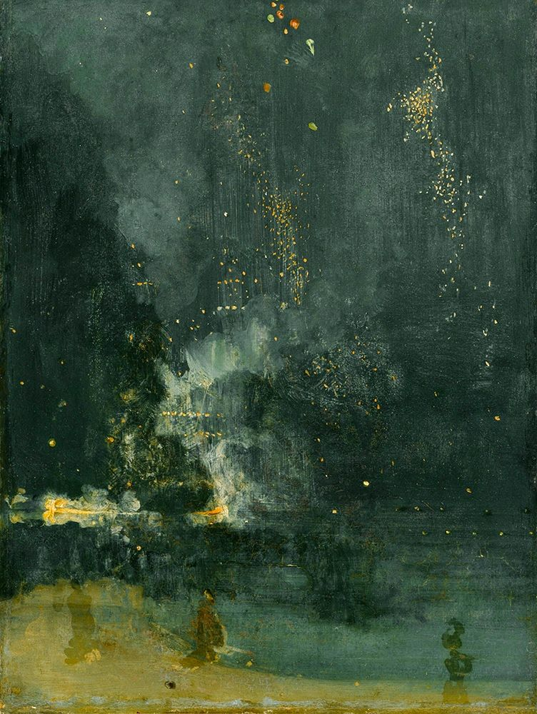 konfigurieren des Kunstdrucks in Wunschgröße Nocturne in Black and Gold, The Falling Rocket┬á von Whistler, James McNeill