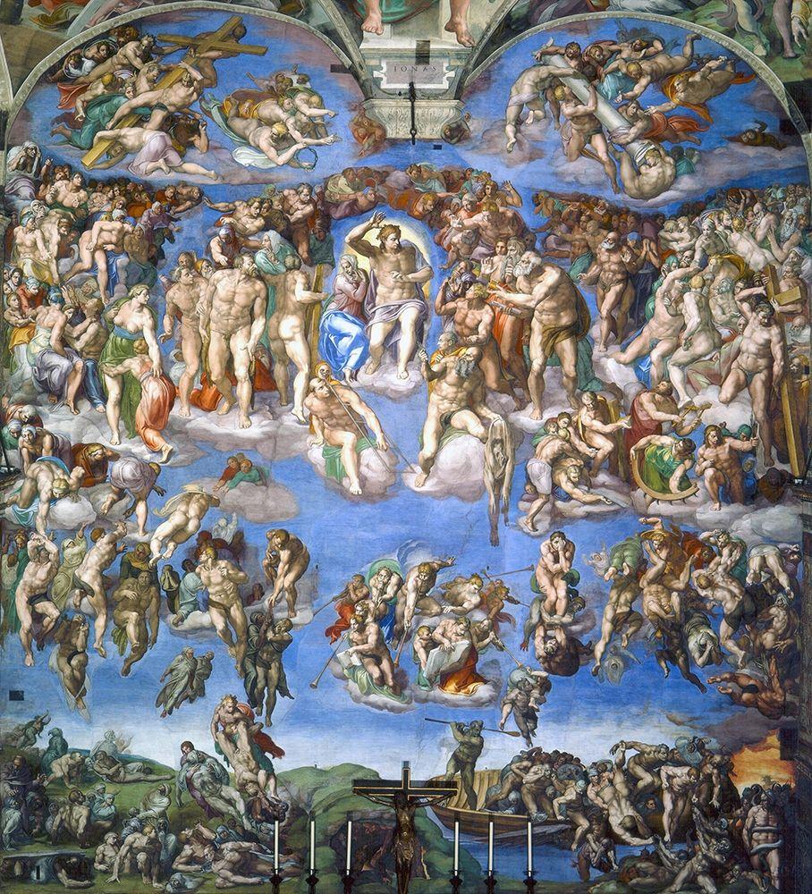 konfigurieren des Kunstdrucks in Wunschgröße The Last Judgement von Michelangelo