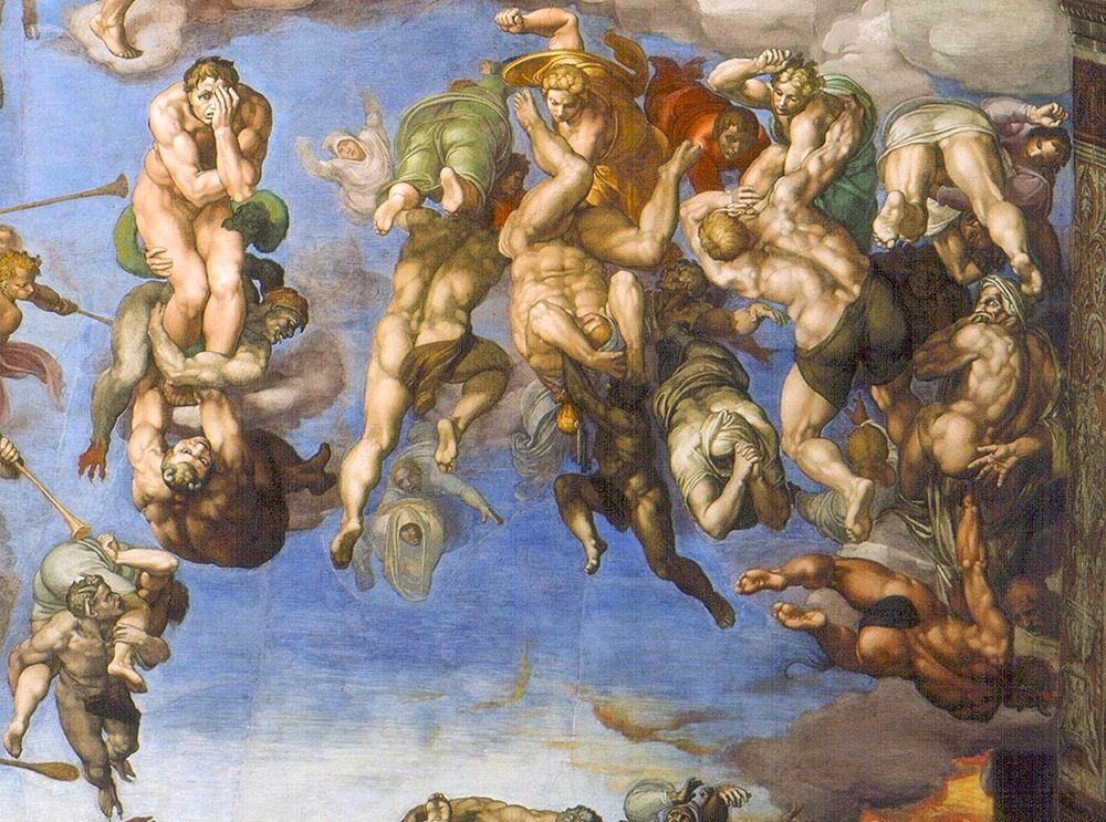 konfigurieren des Kunstdrucks in Wunschgröße The Last Judgement Detail von Michelangelo