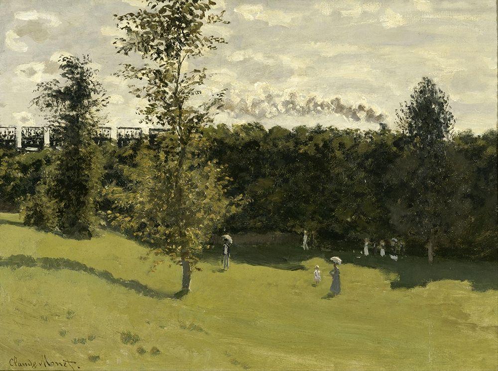 konfigurieren des Kunstdrucks in Wunschgröße Train in the Countryside von Monet, Claude