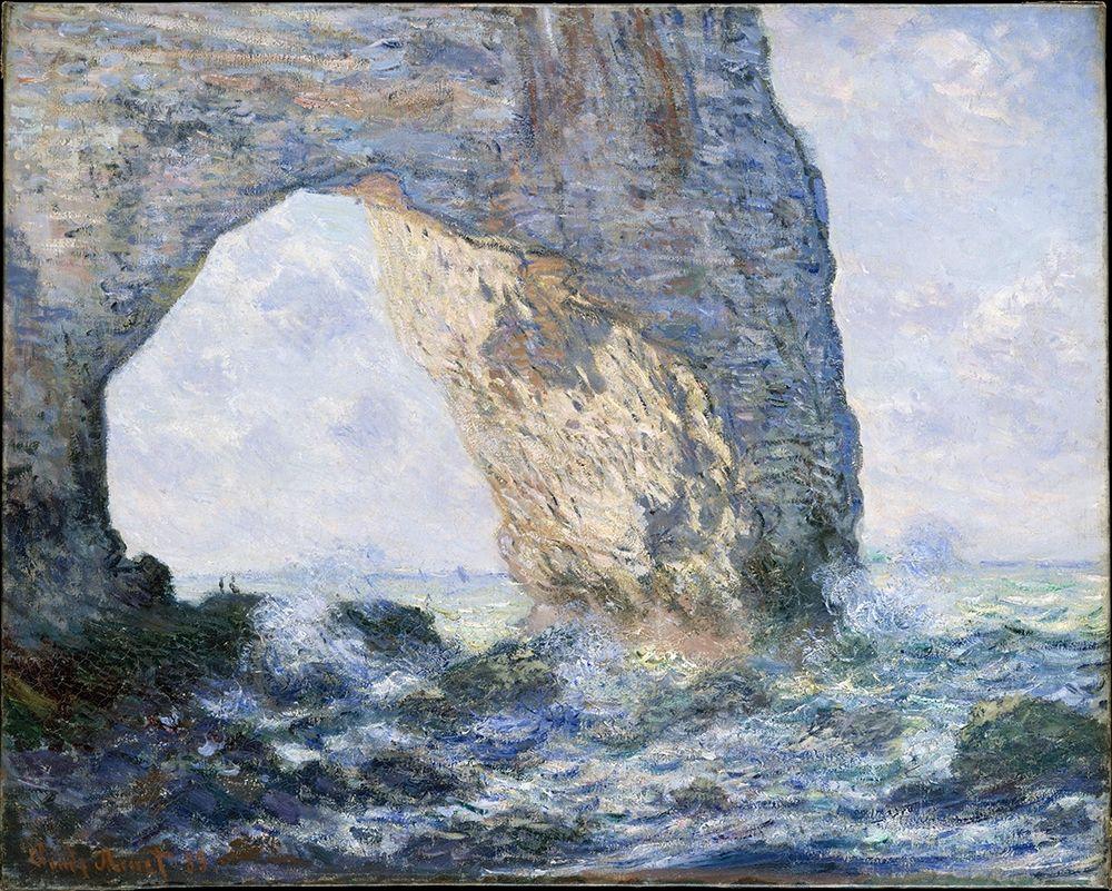 konfigurieren des Kunstdrucks in Wunschgröße The Manneporte At Etretat von Monet, Claude