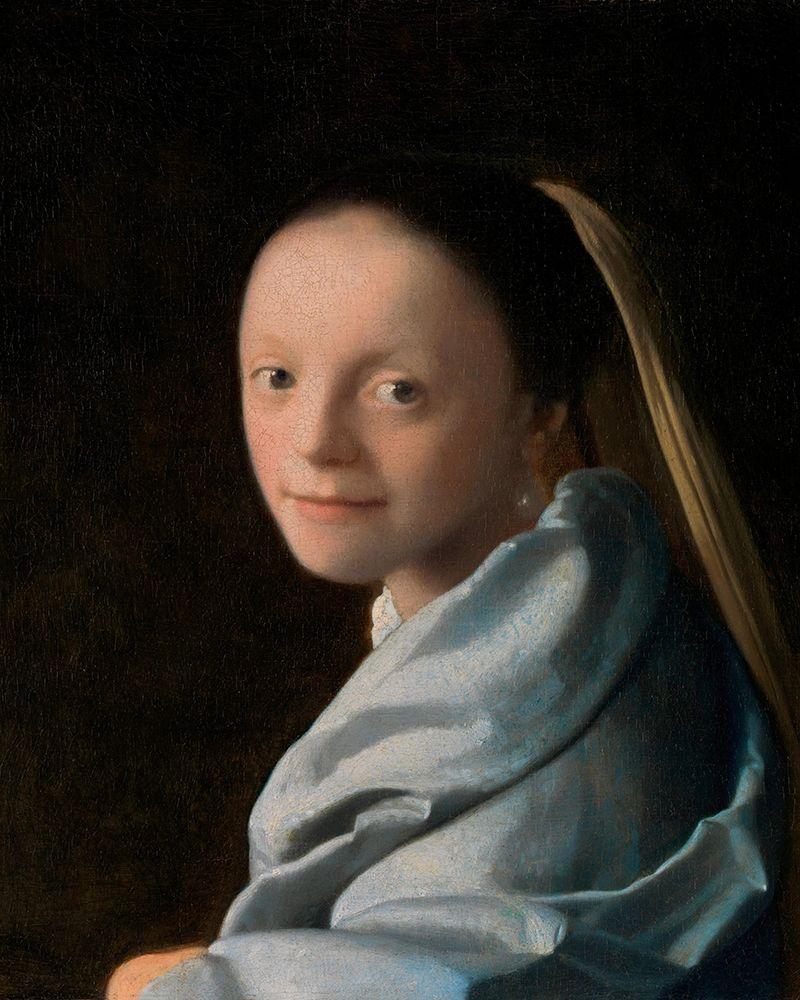 konfigurieren des Kunstdrucks in Wunschgröße Study of a Young Woman von Vermeer, Johannes