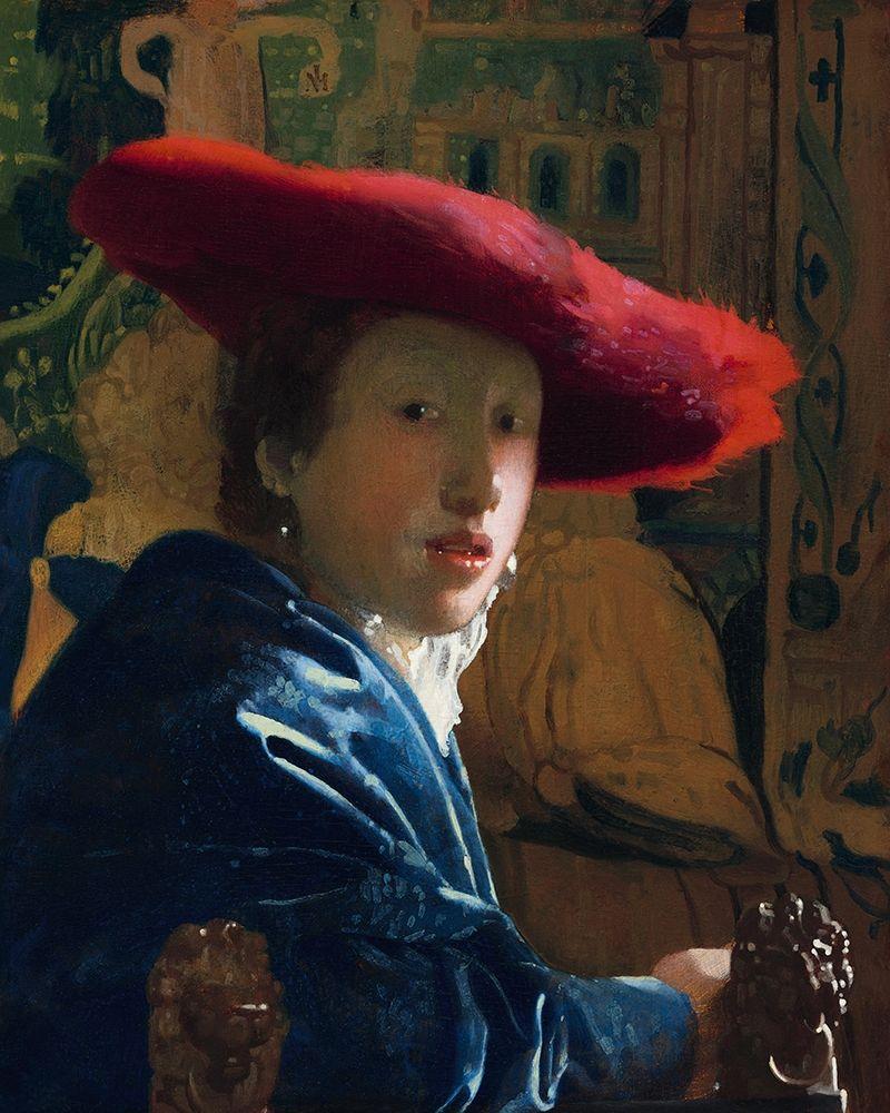 konfigurieren des Kunstdrucks in Wunschgröße Girl with the Red Hat von Vermeer, Johannes