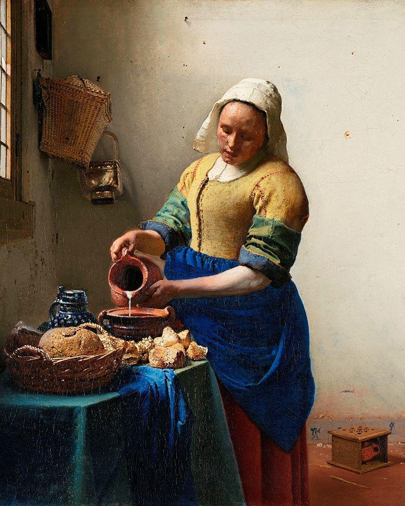 konfigurieren des Kunstdrucks in Wunschgröße The Milkmaid von Vermeer, Johannes