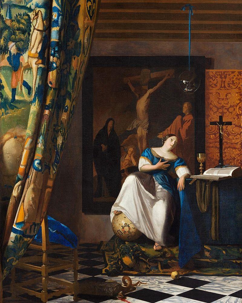 konfigurieren des Kunstdrucks in Wunschgröße Allegory of the Catholic Faith von Vermeer, Johannes