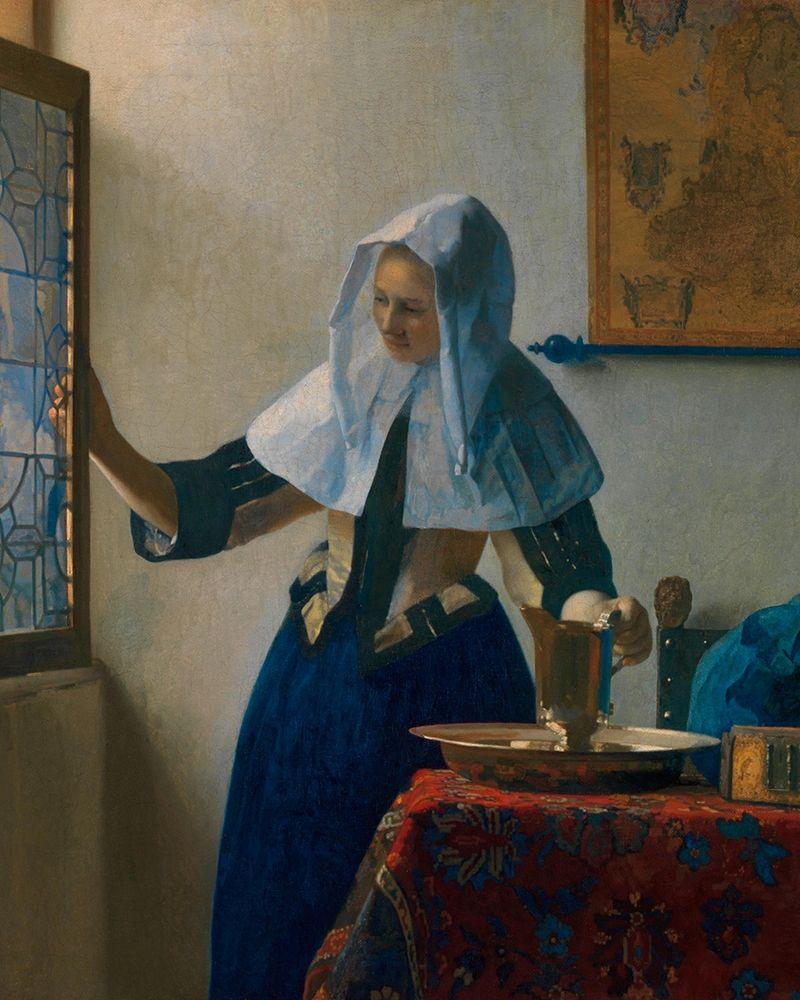 konfigurieren des Kunstdrucks in Wunschgröße Young Woman with a Water Pitcher von Vermeer, Johannes