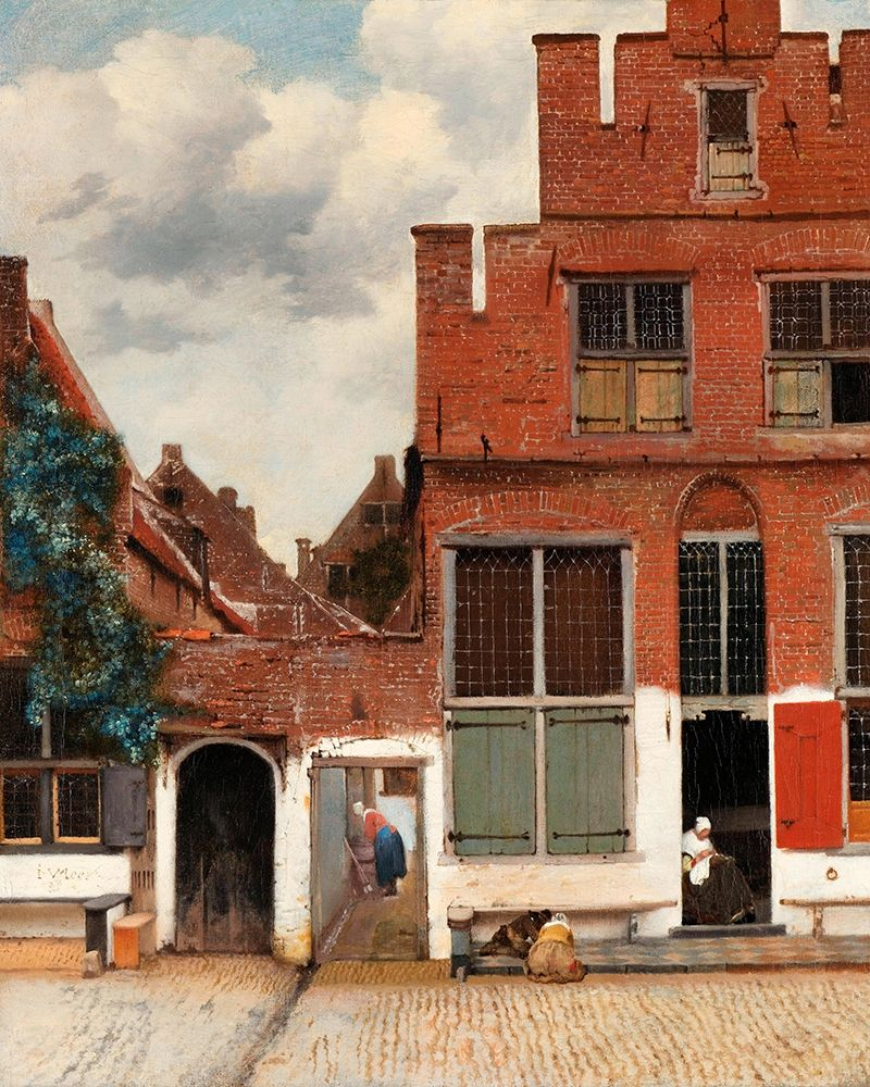 konfigurieren des Kunstdrucks in Wunschgröße The Little Street von Vermeer, Johannes