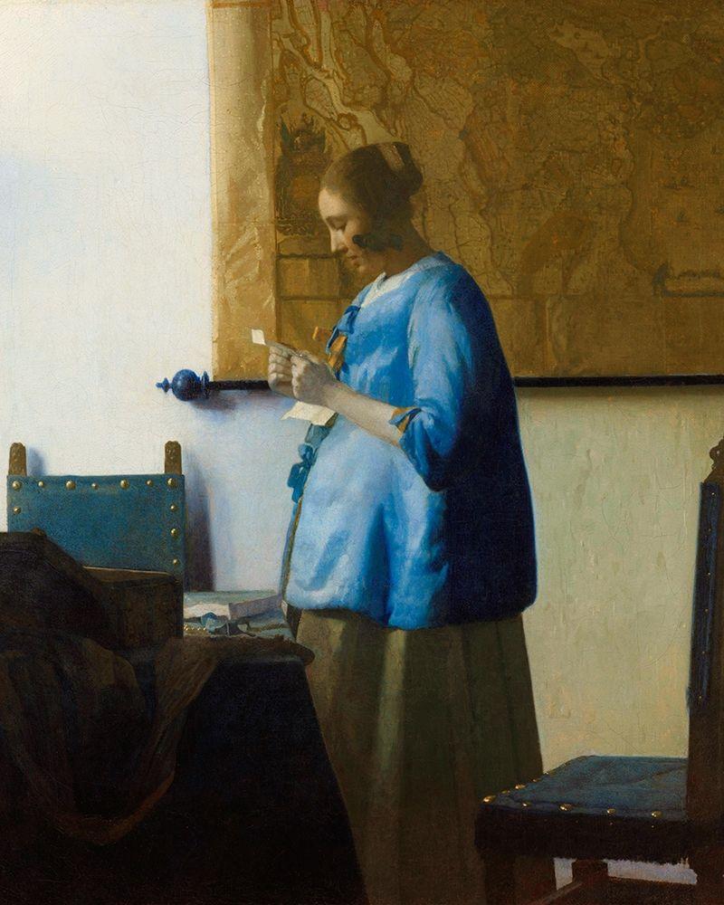 konfigurieren des Kunstdrucks in Wunschgröße Woman Reading a Letter von Vermeer, Johannes