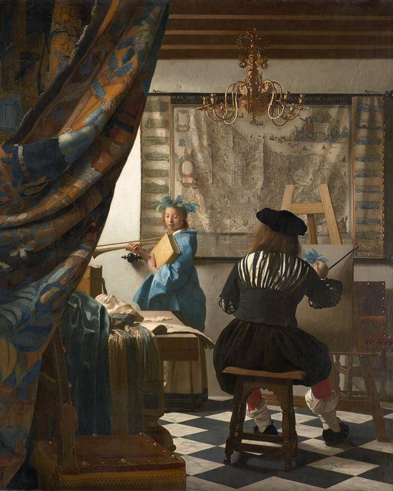 konfigurieren des Kunstdrucks in Wunschgröße The Art of Painting von Vermeer, Johannes