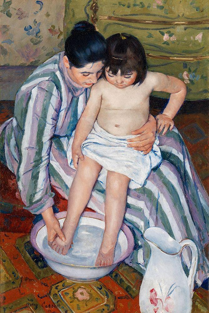 konfigurieren des Kunstdrucks in Wunschgröße The Childs Bath von Cassatt, Mary