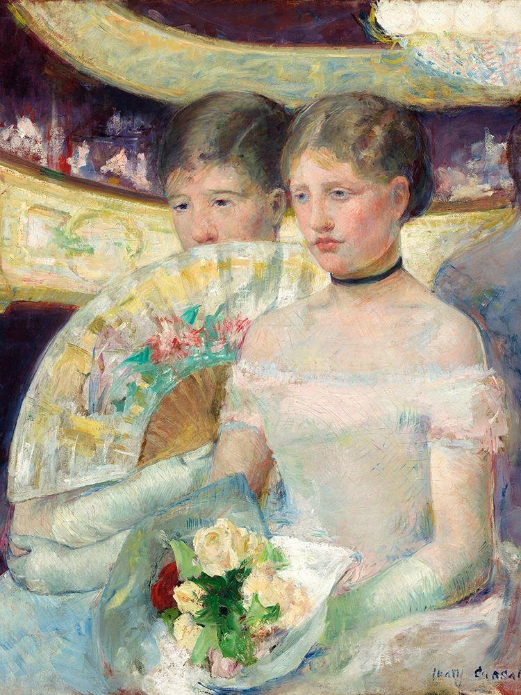 konfigurieren des Kunstdrucks in Wunschgröße The Loge von Cassatt, Mary