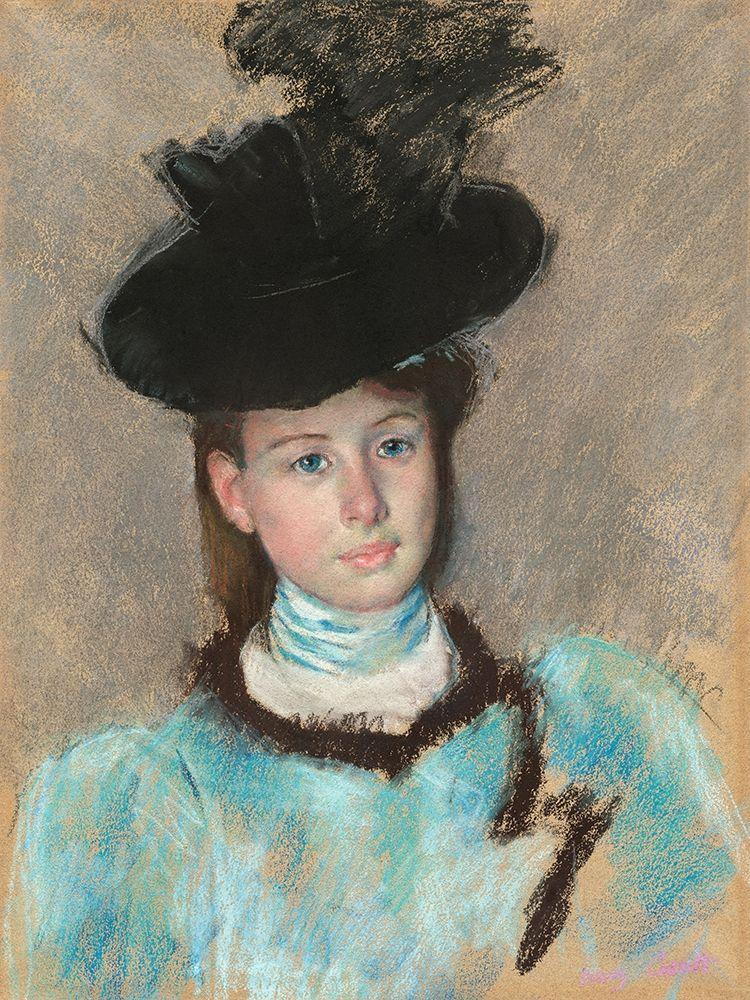 konfigurieren des Kunstdrucks in Wunschgröße The Black Hat von Cassatt, Mary