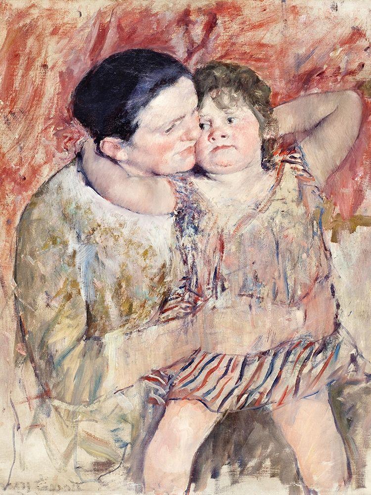 konfigurieren des Kunstdrucks in Wunschgröße Woman and Child von Cassatt, Mary